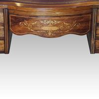 Edwardian Inlaid Rosewood Writing Table (5 of 12)