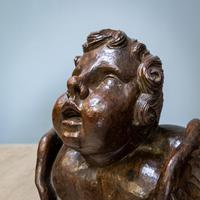 Large Walnut Head of Putto (4 of 8)