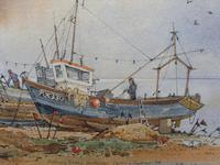 Watercolour & Ink Hastings Boats Listed Artist Valerie Sadler (9 of 10)