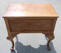 1960s Quality Hand Made Oak Lowboy with 5 Drawers (5 of 5)