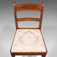 Set of 4, Antique Dining Chairs, English, Mahogany, Pair Of Carvers, Regency (11 of 12)