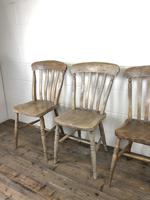 Set of Four Antique Farmhouse Kitchen Chairs (9 of 14)