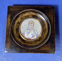Pair of 1920s Painted Miniatures of Emperor Napoleon & Josephine (11 of 30)