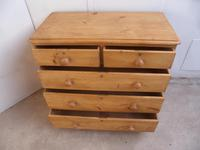 Superb Victorian Large Antique Pine 5 Drawer Chest of Drawers (8 of 8)