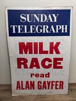 Vintage Advertising Poster Sunday Telegraph Milk Race c.1967 (2 of 23)