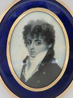 Miniature Portrait Georgian Gentleman 1790 En Grisaille (4 of 4)