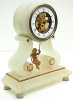 Rare Antique French Farcot Mantel Clock 8-Day Swinging Cherub Mantel Clock (5 of 11)
