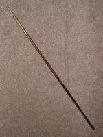 Vintage Bamboo 1953 Queen Elizabeth's Coronation  Brass Topped Sword Stick (17 of 18)