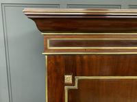 Early 19th Century Brass Mounted Flame Mahogany Linen Press (8 of 21)