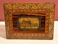 Regency Tonbridge Ware Castle Rosewood Sewing Box (2 of 8)