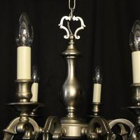 French Silver Plated 8 Light Chandelier (7 of 10)