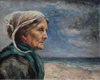 French School Exhibition Portrait Bretonne Fisherwoman c.1930 (2 of 36)