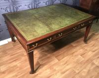 George III Style Mahogany Partners Library Table (9 of 14)
