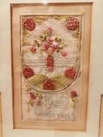 Early 20th century embroidered silk greetings cards (11 of 16)