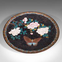 Antique Decorative Plate, Japanese, Cloisonne, Fruit, Serving Dish, Victorian (2 of 9)