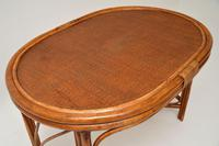 Vintage 1970's Bamboo & Rattan Games Table & Chairs (9 of 12)