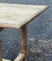 Rustic Bleached Oak Farmhouse Dining Table (22 of 25)