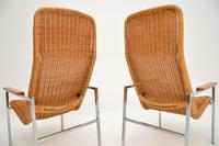 Pair of Vintage Chrome & Rattan Armchairs by Dirk Van Sliedrecht (9 of 11)