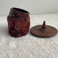 Hardwood Carved Tobacco Box (2 of 3)