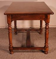 19th Century French Two Drawer Desk with Turned Feet (7 of 12)