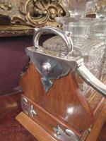 Unusual Victorian Antique Silvered Split Opening Tantalus (4 of 8)