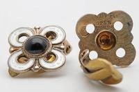 David Andersen Norwegian Silver & Enamel Earrings (2 of 2)