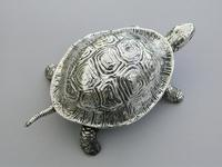 Edwardian Novelty Silver Mounted Tortoise Desk Bell by Grey & Co, Chester, 1907 (4 of 11)