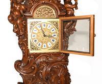 Carved Italian Grandfather Clock Walnut Cherubs (5 of 16)