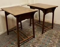 Pair of Arts & Crafts Elm Tables (4 of 8)