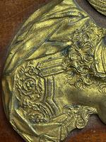 Pair of Interesting 19th Century Gilded Bronze Alexander The Great & Napoleon Cameo Plaques (18 of 29)