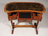 A Rare and Very Slender Early 19th Century Kidney Shaped Writing Table (2 of 4)