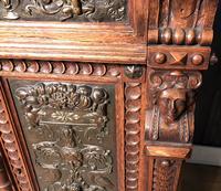 Victorian Carved Oak Secretaire Bookcase (10 of 25)