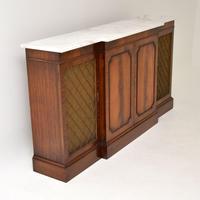 Georgian Style Mahogany Marble Top Sideboard c.1950 (5 of 9)