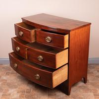 19th Century Mahogany Bow Fronted Chest of Drawers (6 of 15)