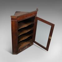 Antique Corner Cabinet, English, Oak, Flame Mahogany, Cupboard, Georgian c.1800 (7 of 12)