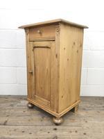Antique Pine Bedside Cupboard (5 of 8)