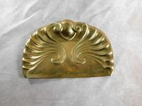 Art Nouveau, Embossed Brass Crumb Tray & Brush (8 of 8)