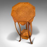Antique Plant Stand, English, Oak, Jardiniere, Liberty-esque, Arts and Crafts (9 of 12)