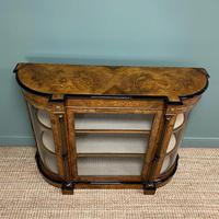 Sensational Figured Victorian Walnut Antique Credenza (5 of 9)