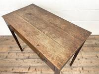 Antique Georgian Oak Side Table with Drawer (8 of 10)