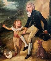 Lovely 18th Century Georgian Revival Gilt-Framed Oil on Panel Portrait Painting (3 of 8)