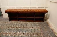 Long Mahogany Chesterfield Hall Seat Shoe Tidy (2 of 8)