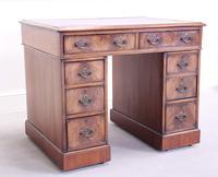 18th Century Mahogany Pedestal Writing Desk (2 of 12)