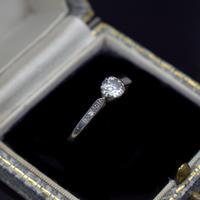 Art Deco 0.50ct Diamond Solitaire 18ct 18K Gold & Platinum Ring (9 of 9)