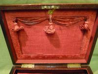 Beautifully Inlaid Rosewood Jewellery Box. Unusual Interior c.1865 (8 of 14)