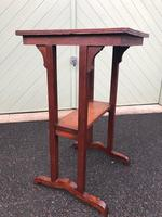 Arts & Crafts Oak Occasional Table (5 of 6)