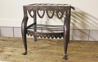 Antique Steel Fireplace Footman. Kettle and Plate Trivet. Welsh Folk Art (6 of 10)