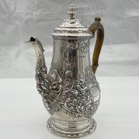 George IV Sterling Silver Coffee Pot London 1824 Timothy Smith & Thomas Merryweather (4 of 12)