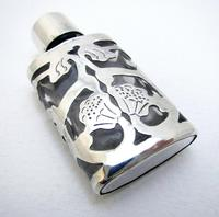 70s Retro Ari D Norman London Import Hallmarks Solid Sterling Silver Openwork Pierced Glass Vintage Scent Perfume Bottle (8 of 8)
