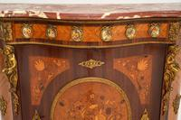 Antique French Inlaid Marquetry  Marble Top Cabinet (9 of 12)